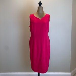 Talbots dark pink sleeveless sheath dress #3677
